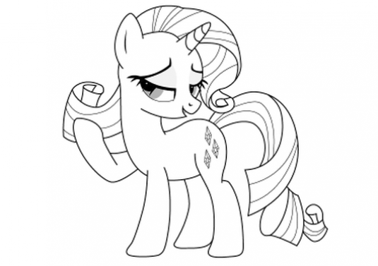 How to draw pony Rarity?