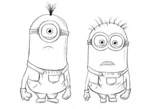 How to draw a minion with a pencil?