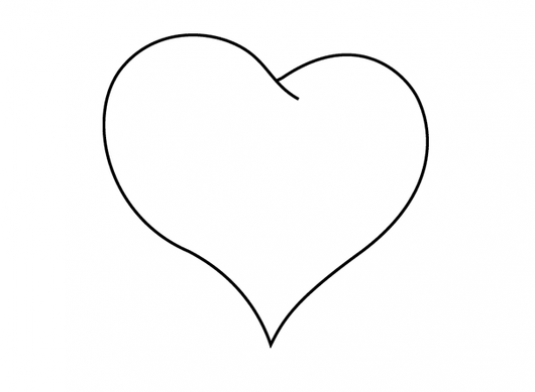 How to draw a heart with a pencil?