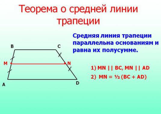 How to find the middle line of a trapezoid?