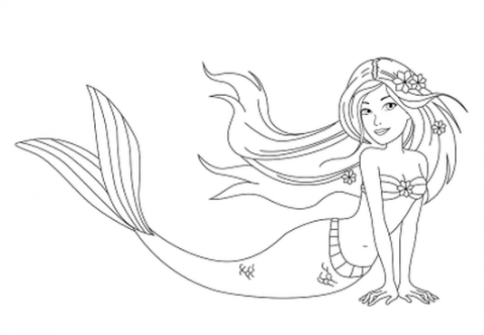 How to draw a mermaid in stages?