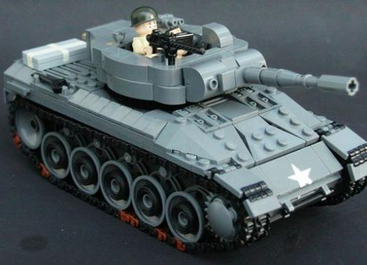 How to make a tank of Lego?