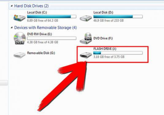 How to open a flash drive?