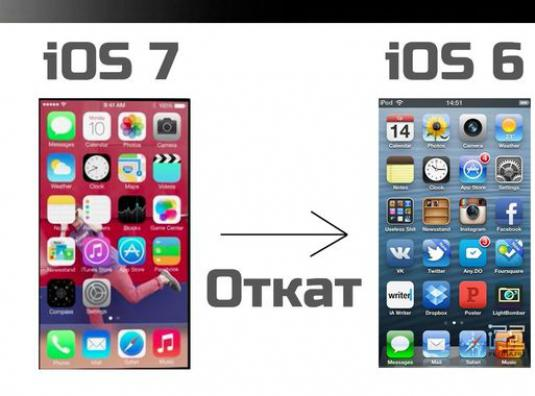 How to roll back ios 7?