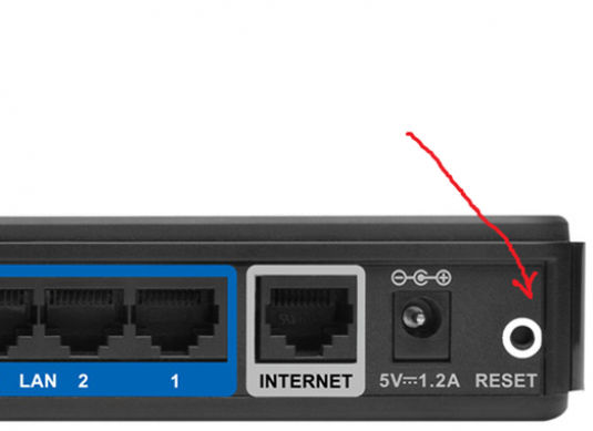 How to reset the router settings?