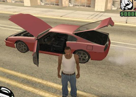 How to open the hood in GTA?