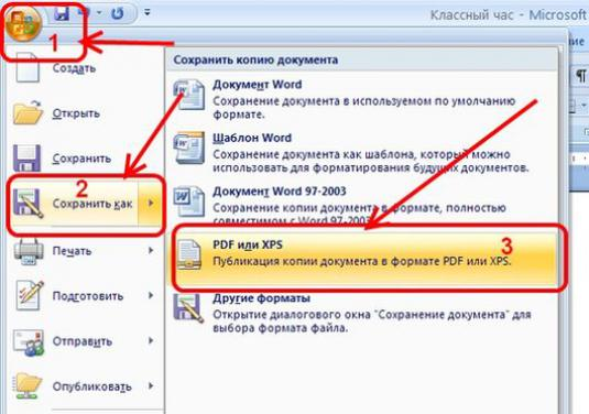 How to save a document to PDF?