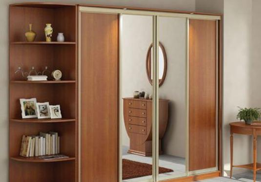 How to assemble the doors of the wardrobe compartment?