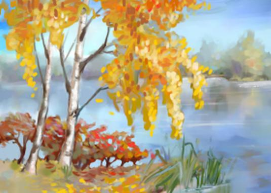 How to draw an autumn landscape?