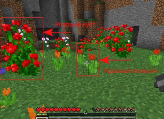 How to make flowers in Minecraft?