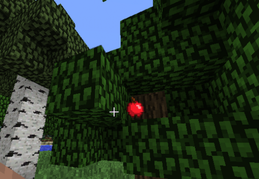 How to make an apple in Minecraft?