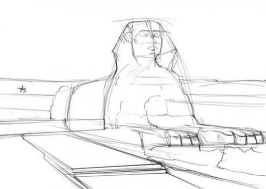 How to draw a sphinx?