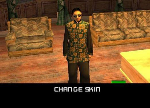 How to change the skin in the GTA?