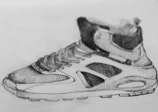 How to draw sneakers?