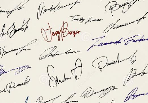 What is a signature?