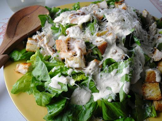 How to cook a Caesar salad?