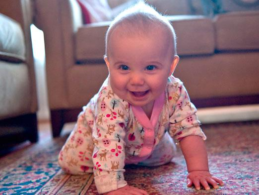 When does a baby start crawling?