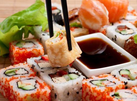 How many calories in sushi?