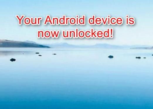How to remove the lock from the android?