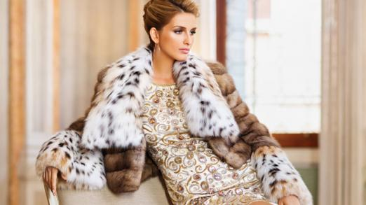 For the most stylish ladies - luxurious lynx fur coats