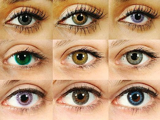 How to change the color of the eyes without lenses?