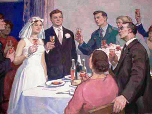 """Why shout """"bitterly"""" at a wedding?"""
