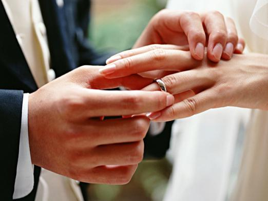 Which finger is the wedding ring?