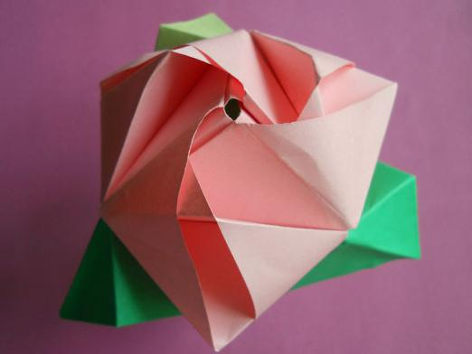 How to make origami rose?