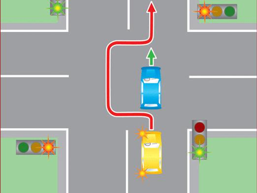 Is overtaking allowed at the crossroads?
