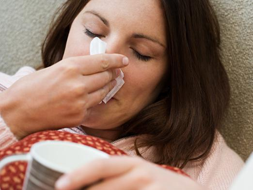 What is the temperature of the flu?