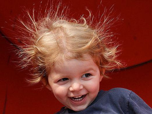Why does hair get electrified?