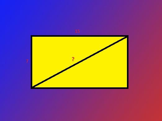 How to find the diagonal of the rectangle?