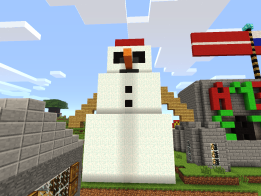 How to make a snowman in minecraft?