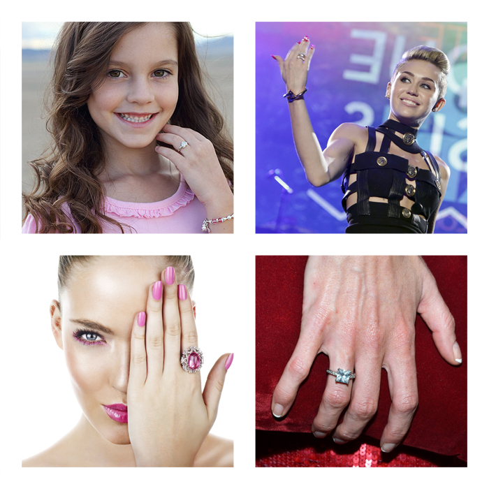 Age features of wearing rings.
