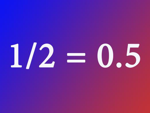 How to convert ordinary fraction to decimal?