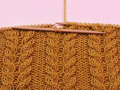 How to knit braids